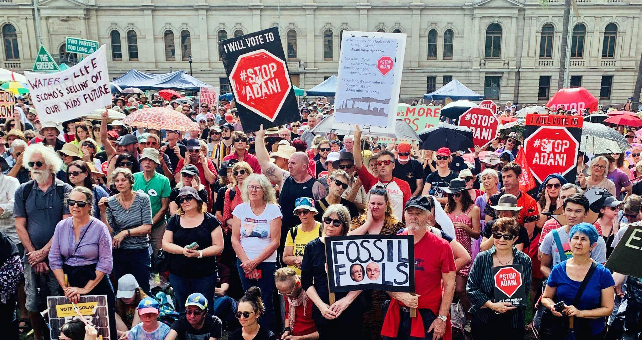 Stop Adani protest in Brisbane