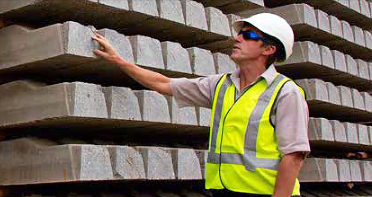 Austrack worker concrete sleepers